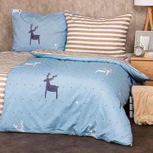 4Home Bavlněné povlečení Deer love , 220 x 200 cm, 2 ks 70 x 90 cm