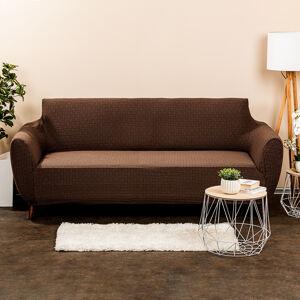 4Home Multielastický potah na sedačku Comfort Plus hnědá, 180 - 220 cm, 180 - 220 cm