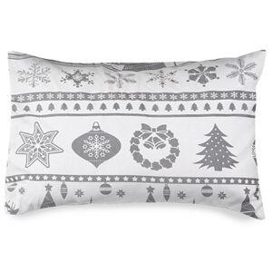 4Home Povlak na polštářek Christmas Time šedá flanel, 50 x 70 cm