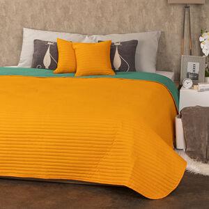 4Home Přehoz na postele Doubleface oranžová/zelená