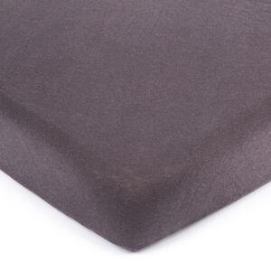 4Home jersey prostěradlo tmavě šedá, 90 x 200 cm