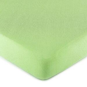 4Home jersey prostěradlo zelená, 90 x 200 cm