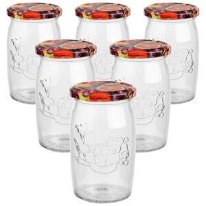 6dílná sada zavařovacích sklenic s víčkem, 335 ml