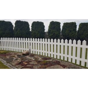 Aldotrade Zahradní plůtek Mega bílá, 4,7 m