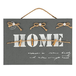Altom Dekorativní závěsná tabule Home, šedá