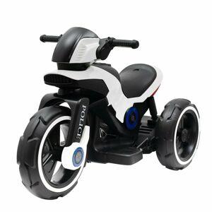Baby Mix Dětská elektrická motorka Police černobílá, 100 x 50 x 61 cm