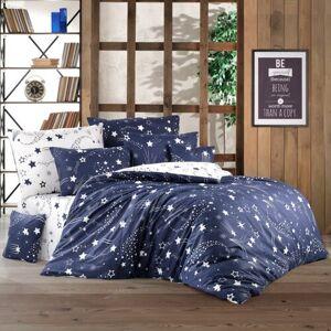 BedTex Bavlněné povlečení Galaxy modrá, 220 x 200 cm, 2 ks 70 x 90 cm