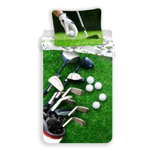 Jerry Fabrics Bavlněné povlečení Golf, 140 x 200 cm, 70 x 90 cm