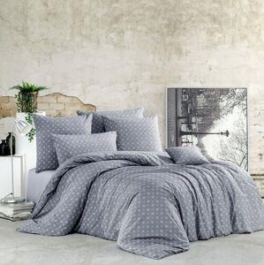 BedTex Bavlněné povlečení Gudrun šedá, 140 x 200 cm, 70 x 90 cm