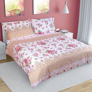 Bellatex Bavlněné povlečení Růže růžová, 240 x 220 cm, 2 ks 70 x 90 cm