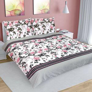 Bellatex Bavlněné povlečení Růže šípková, 240 x 200 cm, 2 ks 70 x 90 cm