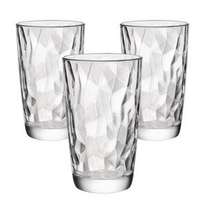 Bormioli Rocco 3dílná sada sklenic na long drink Diamond 470 ml