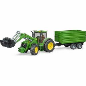 Bruder 3055 Traktor John Deere 7930 s nakladačem a valníkem, 1:16, 75 x 19 x 22 cm