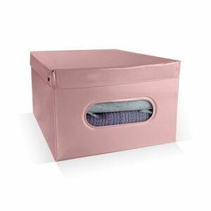 Compactor Skládací úložný box PVC se zipem Compactor Nordic 50 x 38.5 x 24 cm, růžový (Antique)