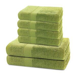 DecoKing Sada ručníků a osušek Marina zelená, 4 ks 50 x 100 cm, 2 ks 70 x 140 cm