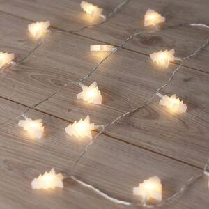 DecoKing Vánoční světelný řetěz Stromečky teplá bílá, 20 LED