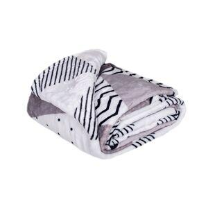 Jahu Deka XXL / Přehoz na postel Triangle grey, 200 x 220 cm