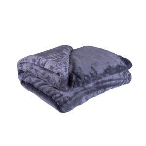 Jahu Deka XXL / Přehoz na postel tmavě šedá, 200 x 220 cm