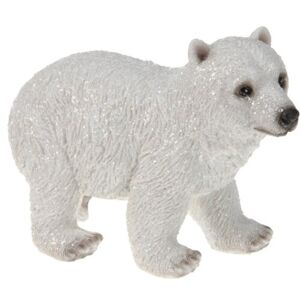 Dekorace Lední medvěd Arctic, 6,8 x 10 x 15 cm
