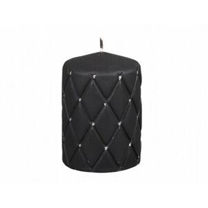 Dekorativní svíčka Florencia černá, 10 cm