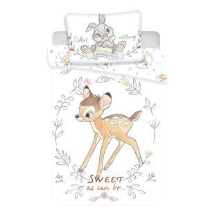 Jerry Fabrics Dětské bavlněné povlečení Bambi circle, 140 x 200 cm, 70 x 90 cm