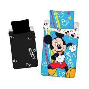 Jerry Fabrics Dětské bavlněné povlečení Mickey happy svítící, 140 x 200 cm, 70 x 90 cm