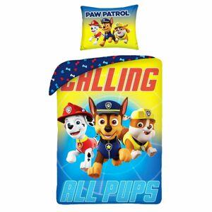 Halantex Dětské bavlněné povlečení Paw Patrol Calling All Pups, 140 x 200 cm, 70 x 90 cm