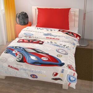 Kvalitex Dětské bavlněné povlečení Racing, 140 x 200 cm, 70 x 90 cm