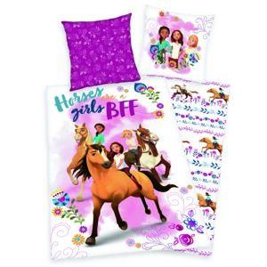 Herding Dětské bavlněné povlečení Spirit Horses girls, 140 x 200 cm, 70 x 90 cm