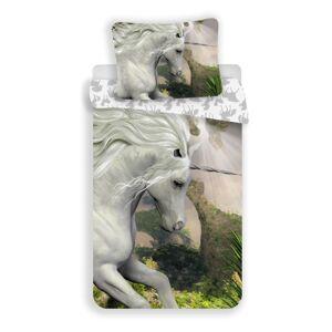 Jerry Fabrics Dětské bavlněné povlečení Unicorn white, 140 x 200 cm, 70 x 90 cm