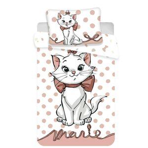 Jerry Fabrics Dětské bavlněné povlečení do postýlky Marie cat dots 02 baby, 100 x 135 cm, 40 x 60 cm