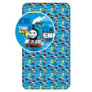 Jerry Fabrics Dětské bavlněné prostěradlo Mašinka Tomáš blue 04, 90 x 200 cm