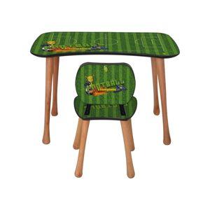 Dětský stolek s židličkou Fotbal, 90 x 52 x 60 cm
