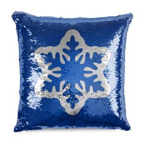 Domarex Vánoční polštářek s flitry Sněhová vločka, 40 x 40 cm