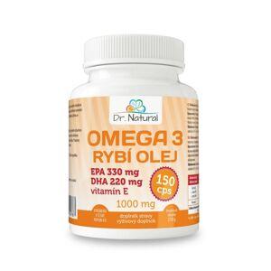 Dr.Natural Omega 3 Rybí olej 1000 mg, 150 cps.