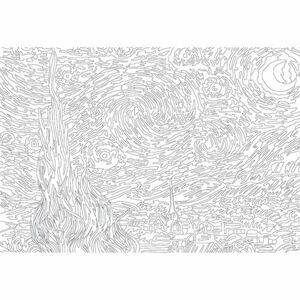 EUROGRAPHICS Color me puzzle Hvězdná noc 300 dílků + sada na zavěšení