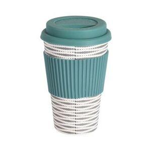 Excellent Houseware Bambusový termohrnek 425 ml, zelená