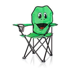 Happy Green Dětské skládací křeslo Žába