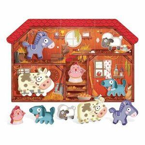HEADU Moje první puzzle Farma s 5 dřevěnými figurkami (Montessori)