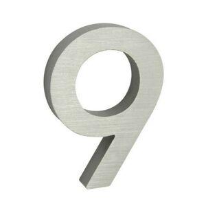 """Hliníkové číslo 9 v """"3D"""" provedení s broušeným povrchem. RICHTER RN.100LV.9.AL.3D"""