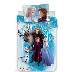 Jerry Fabrics Dětské bavlněné povlečení Frozen 2 family, 140 x 200 cm, 70 x 90 cm
