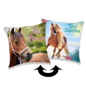 Jerry Fabrics Povlak na polštářek s flitry Horse heart, 40 x 40 cm