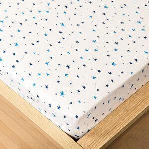 Trade Concept Jersey prostěradlo hvězdičky modrá , 180 x 200 cm