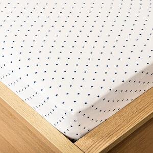 Trade Concept Jersey prostěradlo tečka modrá, 180 x 200 cm