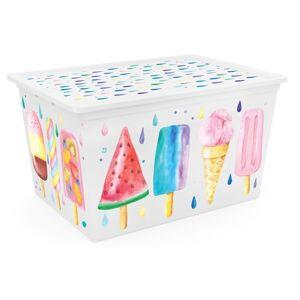 KIS Dekorační úložný box C-Box Style Portobello XL, 50 l