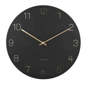 Karlsson 5762BK designové nástěnné hodiny, pr. 40 cm