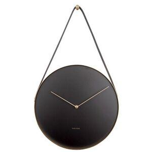 Karlsson 5767BK designové nástěnné hodiny, pr. 34 cm