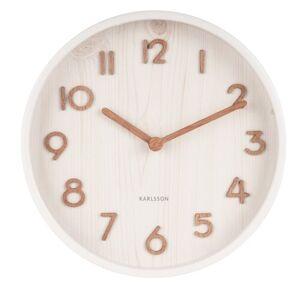 Karlsson 5808WH Designové nástěnné hodiny pr. 22 cm