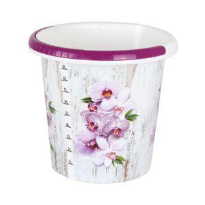 Kbelík s dekorem 10 litrů, orchidej