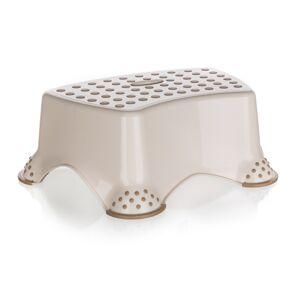 Keeper Plastový taburet mini krémový protiskluzový stohovatelný 40 x 28 x 14 cm